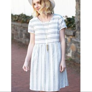 Old Navy Linen Striped Dress
